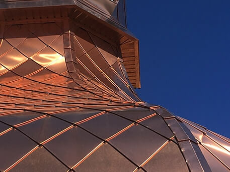 Copper roofing near me