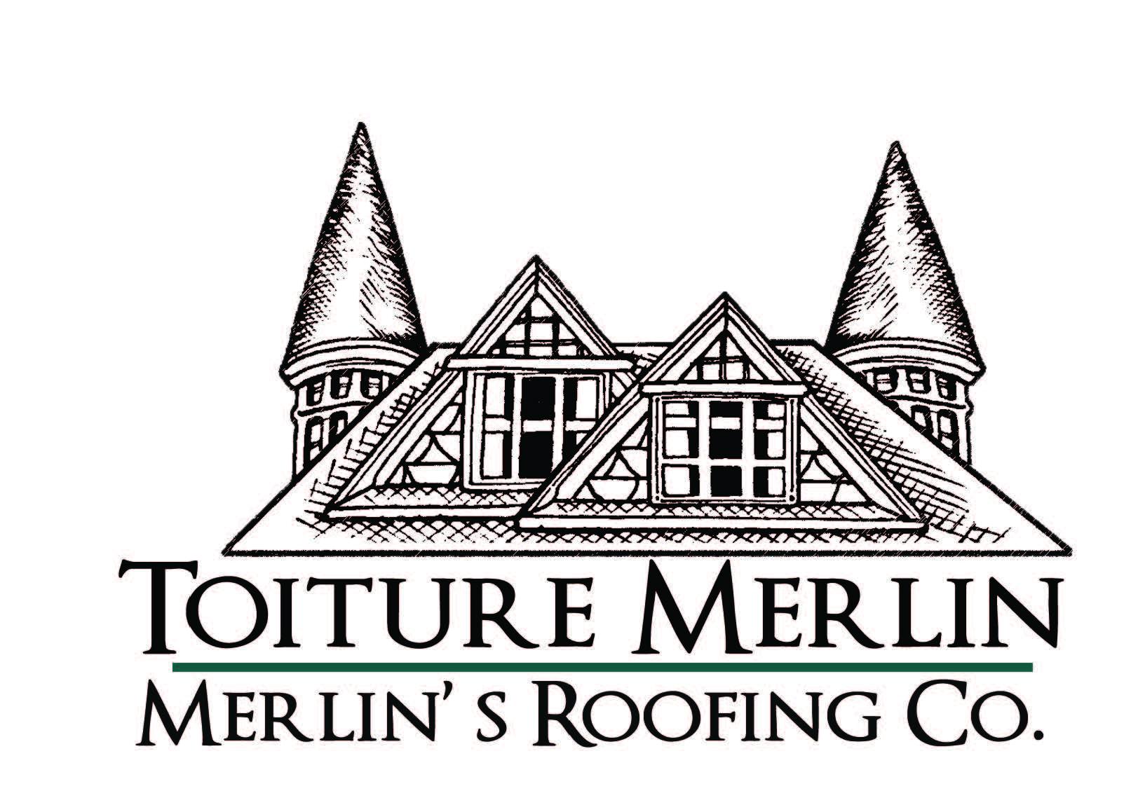 Merlins Roofing Logo