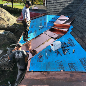 Copper Roofing Over a Shingle Roof